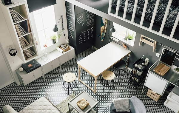 Living small — interior design tips — compact but cool — IKEA interior inspiration