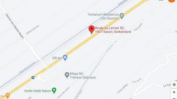 Localisation du point de retrait IKEA à Saxon