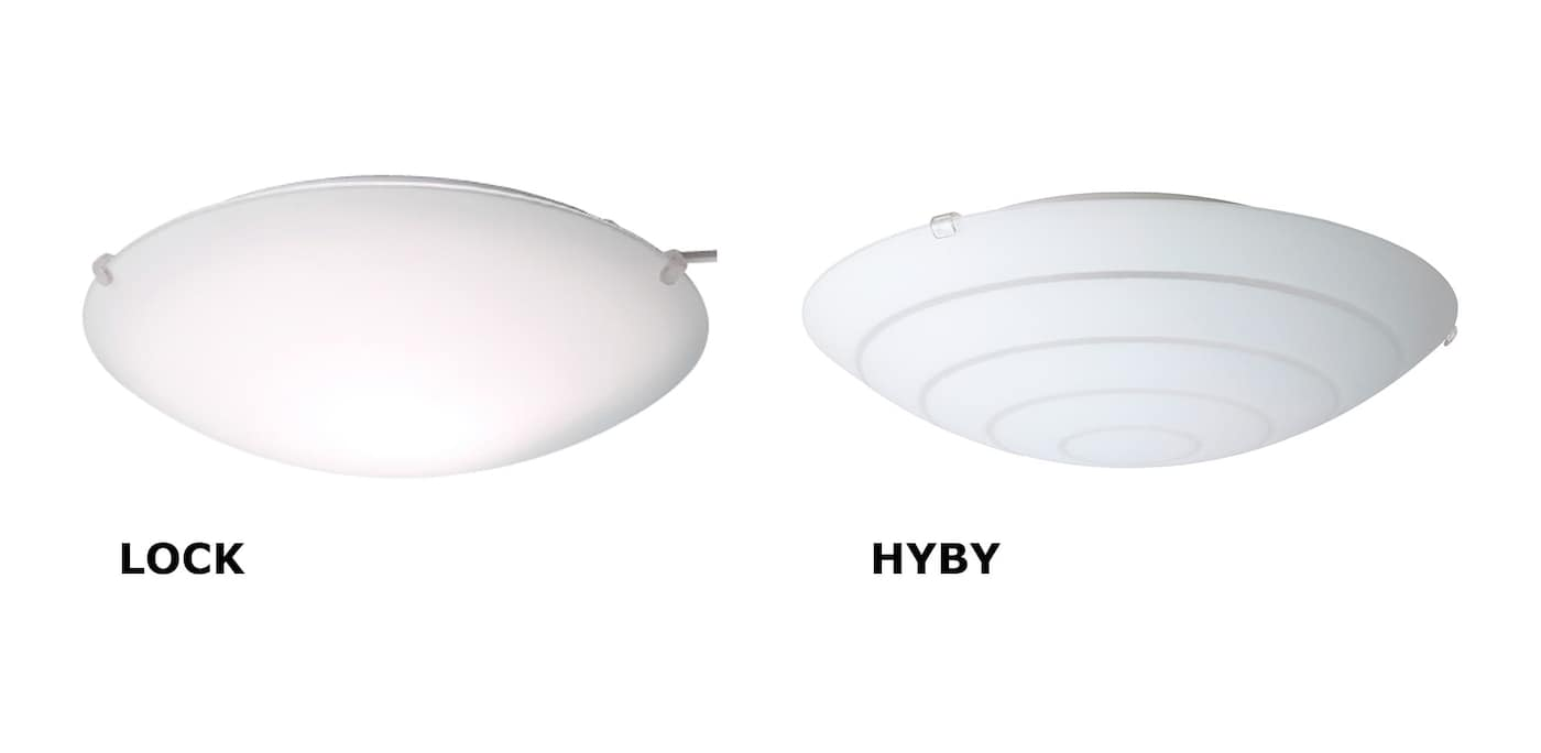 LOCK and HYBY ceiling lamps