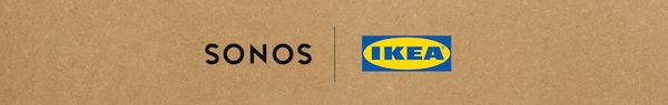 Logo di Sonos e logo di IKEA