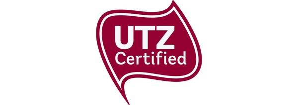 Logo gorria testu zuri batekin, IKEA taldeak 2008. urtetik kafe eta te produktuetan sartu duen UTZ ziurtagiria aurkezten duena.