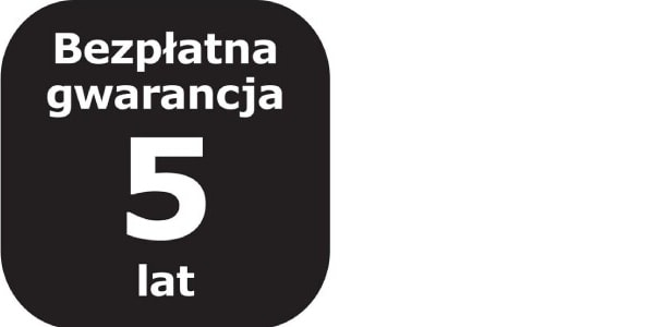 Logotyp 5lat bezpłatnej Gwarnacji