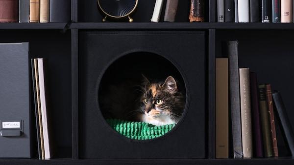 LURVIG Domek pro kočky, černá
