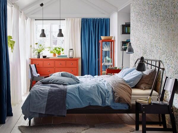 Maalaisromanttinen makuuhuone IKEA
