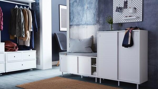 MACKAPÄR Shoe cabinet/storage, white, 80x102 cm