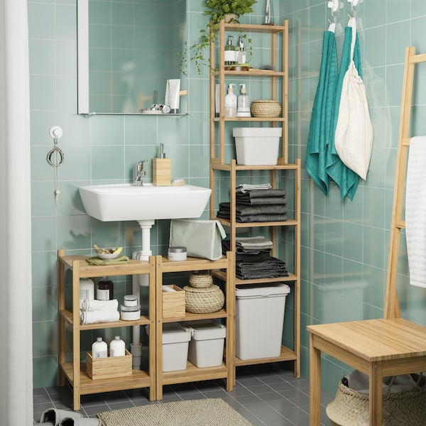 Made from bamboo, our RÅGRUND series brings a fresh, natural look to your bathroom and some naturally smart ideas, too.