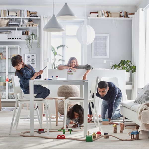 Make room for being together with an extendable table.