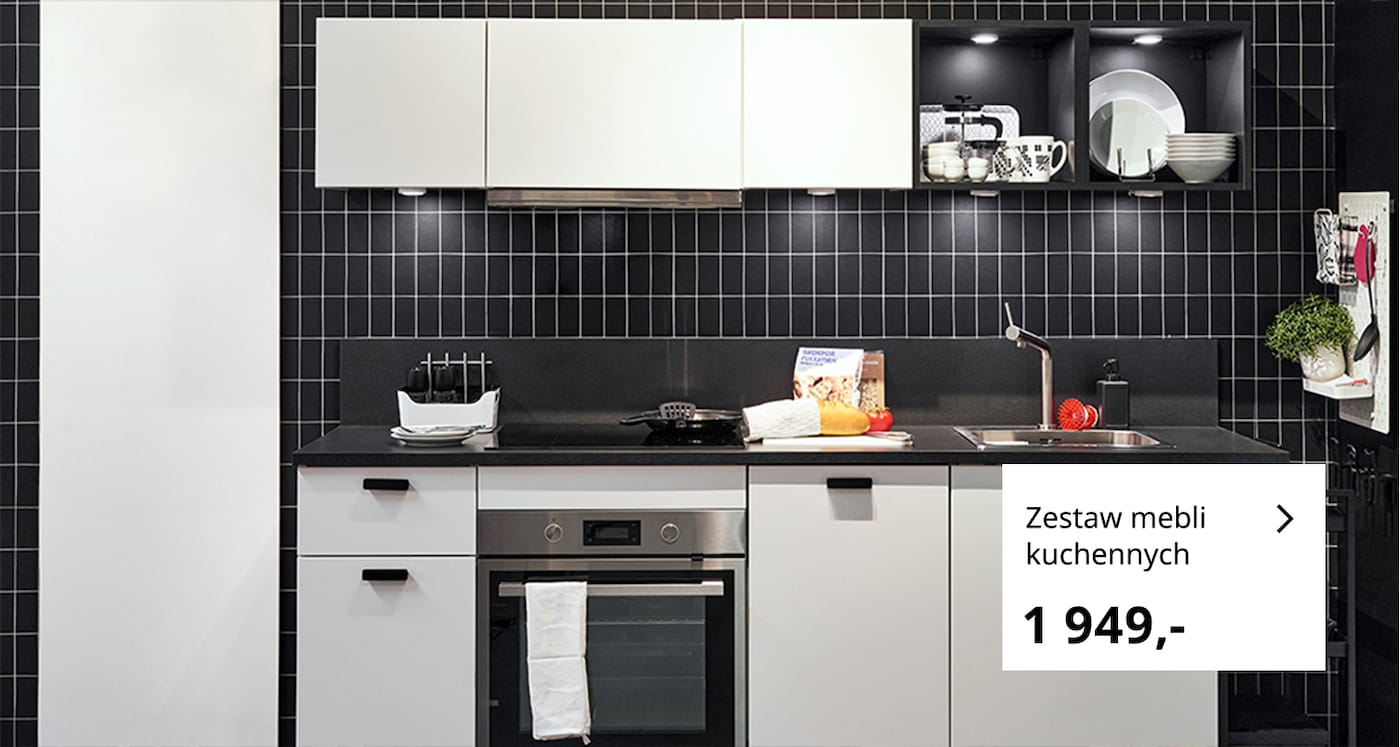 Mała, minimalistyczna kuchnia