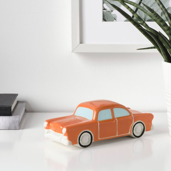 malerisk decoratie auto oranje