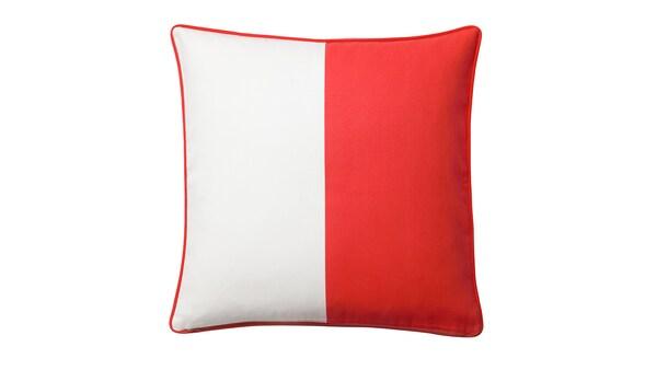 MALINMARIA Housse de coussin, rouge/blanc, 50x50 cm
