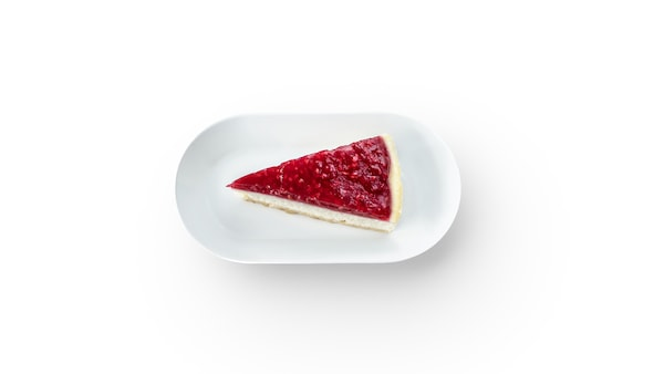 Malinový cheesecake.