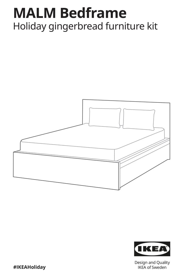 MALM Bedframe gingerbread assembly instructions