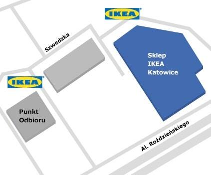 Mapa dojazdu do IKEA Katowice
