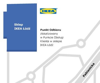 Mapa dojazdu do IKEA Łódź