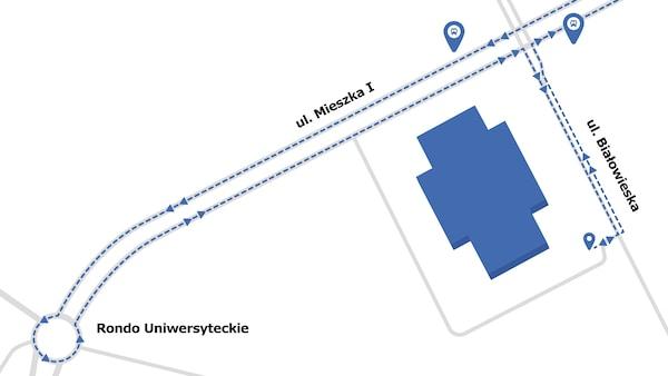 Mapa dojazdu do sklepu IKEA Szczecin