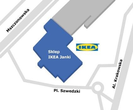 Mapa sklep IKEA Warszawa Janki