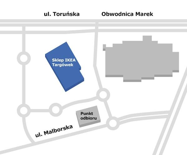 mapa sklepu IKEA
