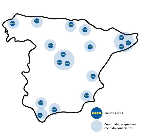 Mapa tiendas IKEA España