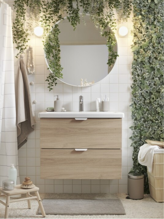 Más información sobre cómo incorporar elementos naturales en tu baño.