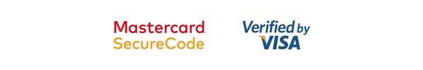 Mastercard SecureCode és Verified by VISA logók.