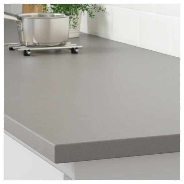Matte light gray/concrete effect
