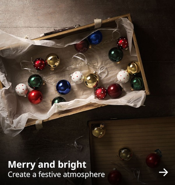 Merry and bright. Create a festive atmosphere.