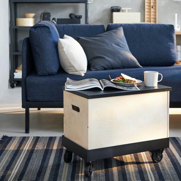 Mesa de salón con almacenaje