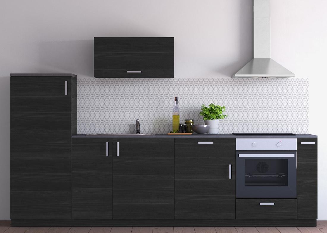 Metod Kuchenzeile Mit Tingsryd Fronten In Schwarz Ikea