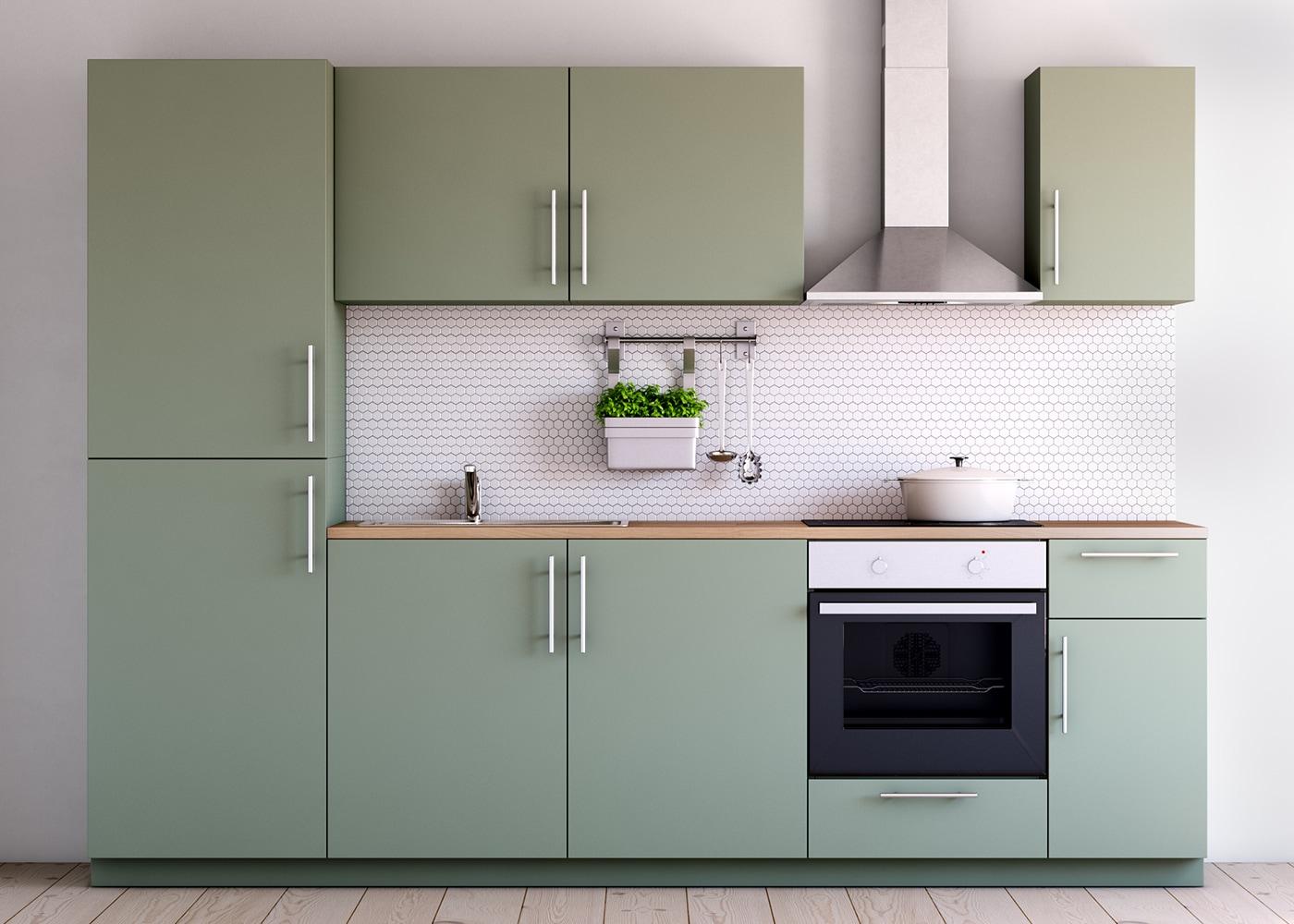 Metod küchenzeile mit kallarp fronten hochglanz grün ikea