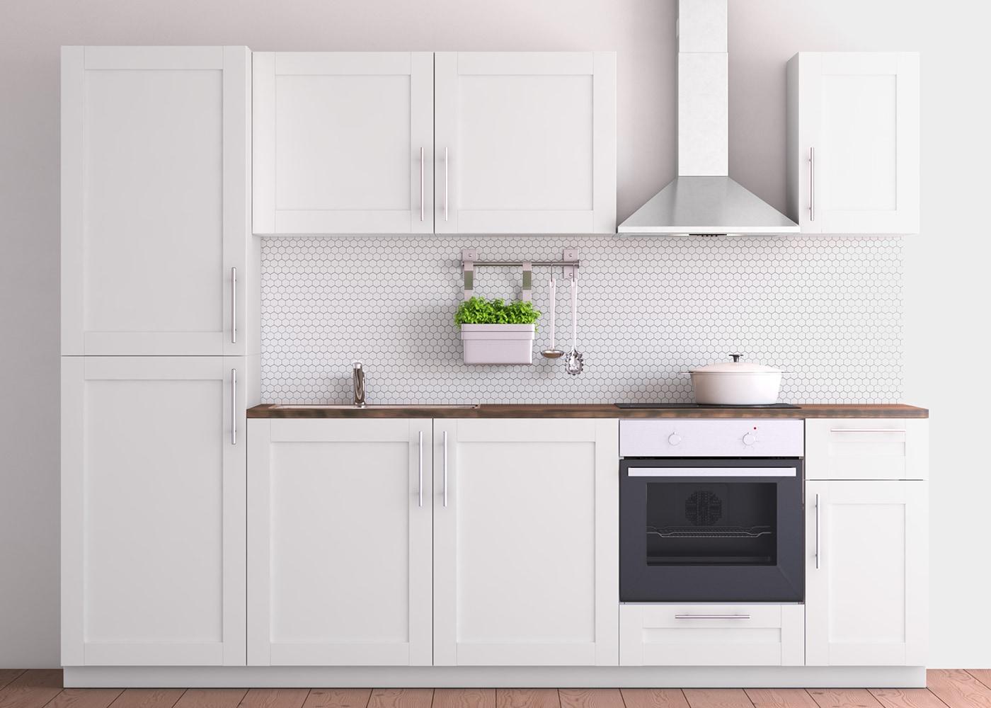 Tischdecke Weiß Ikea : metod k chenzeile mit s vedal fronten in wei ikea ~ Watch28wear.com Haus und Dekorationen