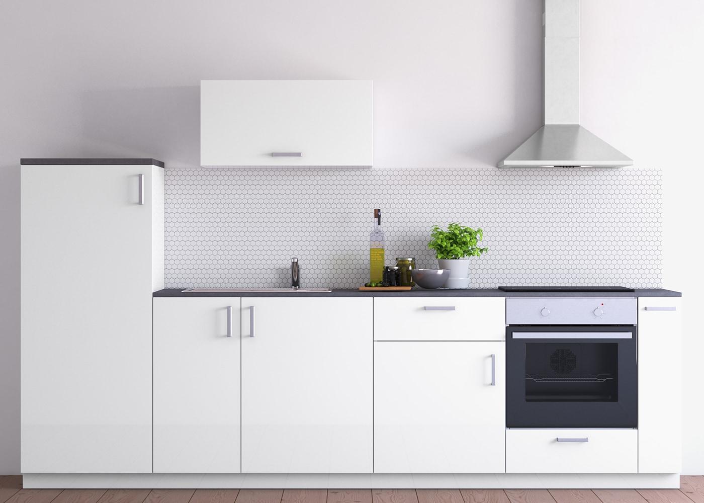 METOD Küchenzeile mit weißen VEDDINGE Fronten - IKEA ...