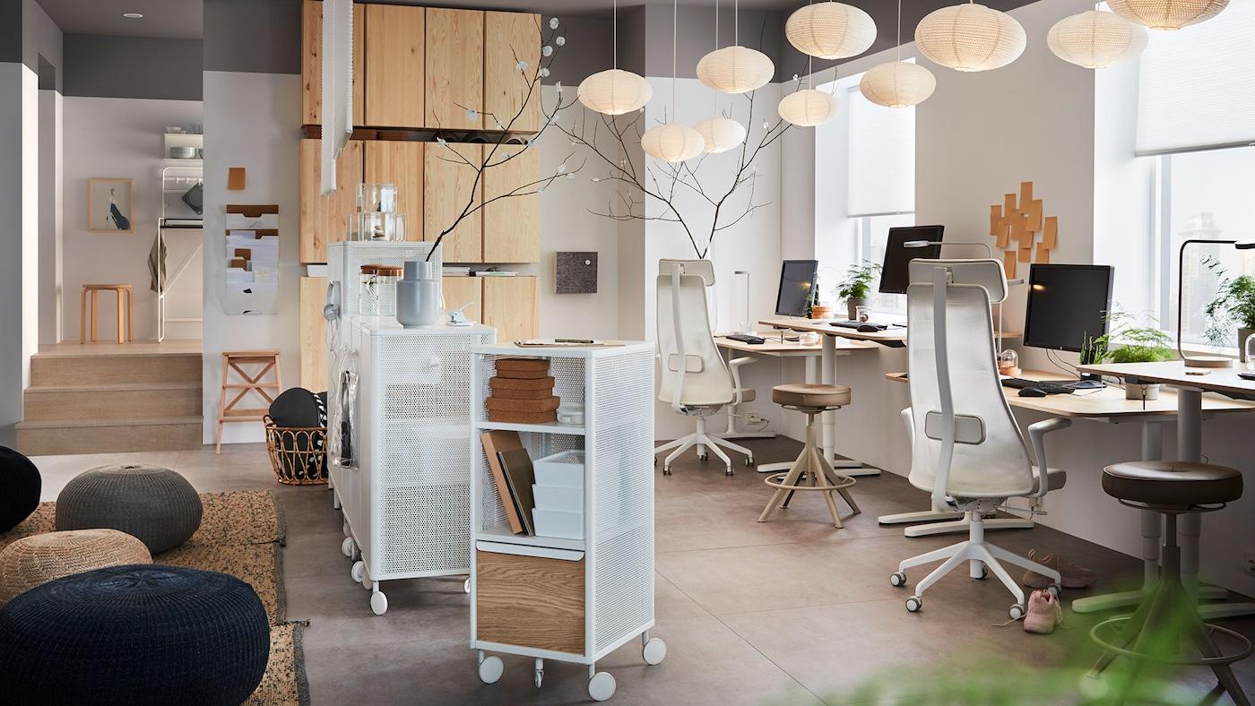 meuble de bureau mobilier de bureau et rangement ikea. Black Bedroom Furniture Sets. Home Design Ideas