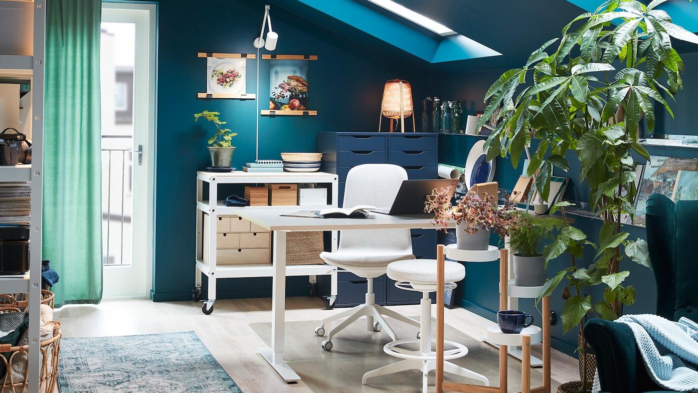 Mur De Rangement Salon meuble de bureau - mobilier de bureau et rangement - ikea