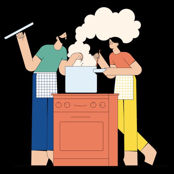 Miláčik, uvaríš dnes večeru? - ilustrácia.