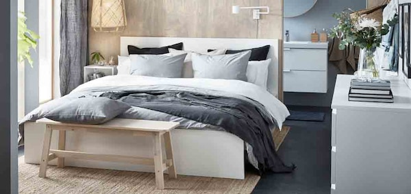 Minimalist luxury in a small and stylish master bedroom