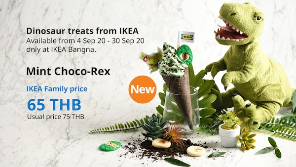 Mint Choco-Rex Ice Cream Dinosaur treats from IKEA