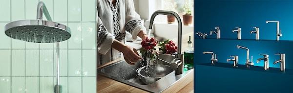 Mischbatterien für Dusche und Waschbecken