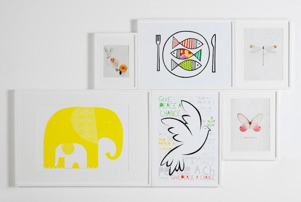 Mit Bildern in einer Gruppe wird daraus eine Mini-Galerie.