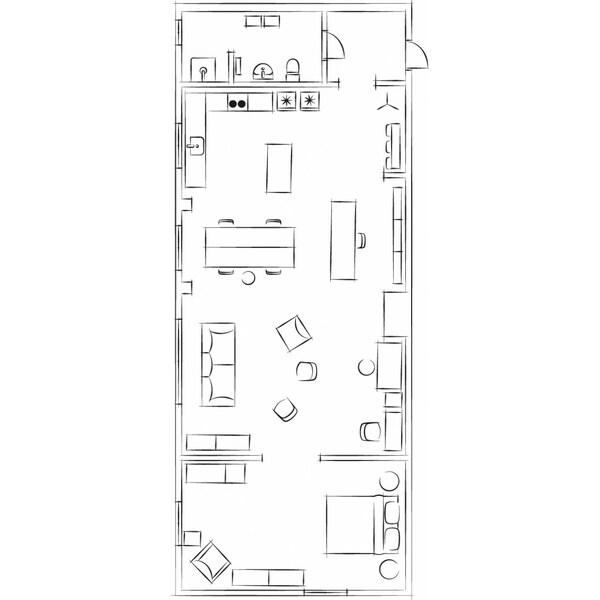 مخطط الشقة العلوية.