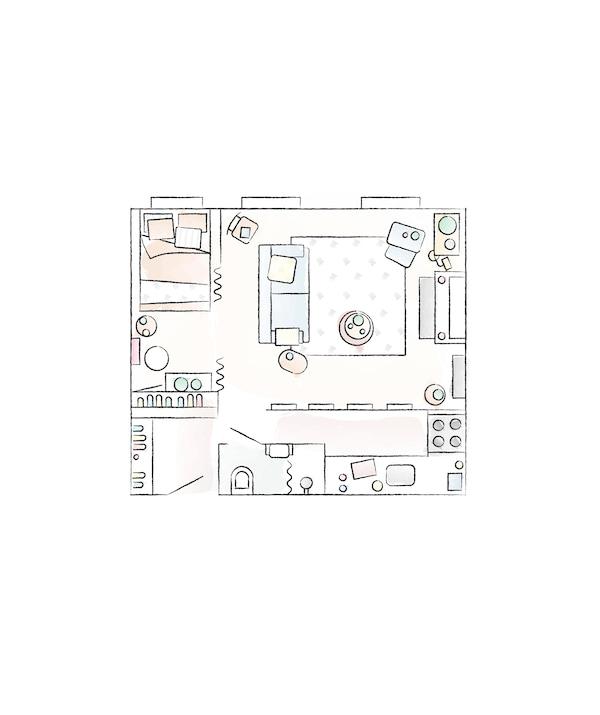 مخطط أرضية منزل Yvet
