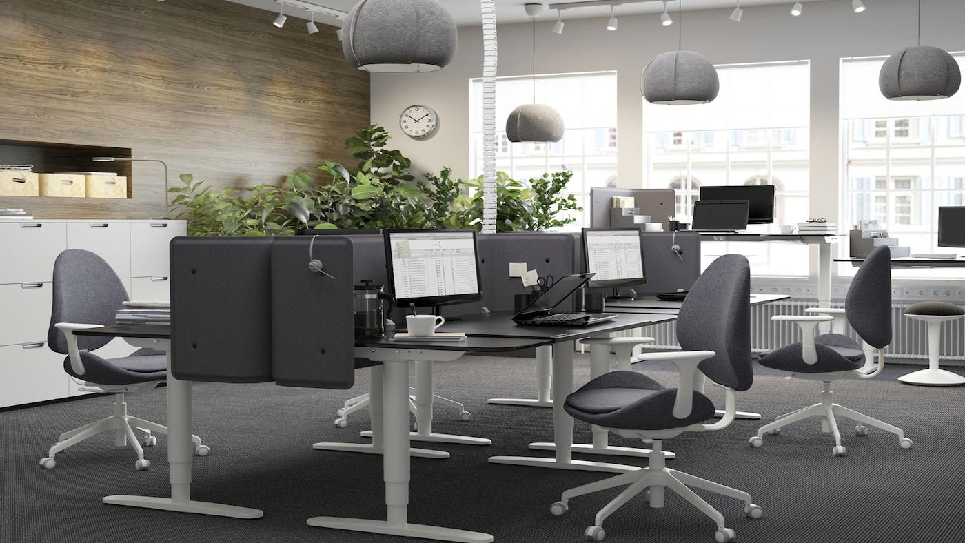 Inspiration mobilier pour bureau professionnel ikea