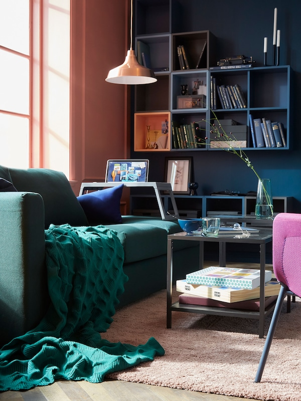 Modern seating, like VIMLE 3-seat sofa from IKEA is comfortable, flexible and multipurpose.