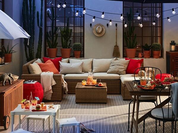 Una Terraza Moderna Y Acogedora Ikea