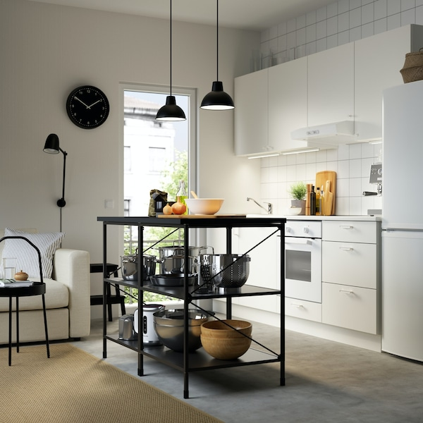 Moderne ENHET Kücheninsel in schwarz