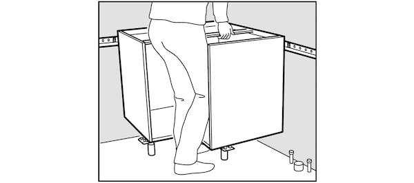 Montage de caisson d'angle de cuisine IKEA