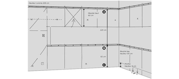 Montage des rails de finition de cuisine IKEA