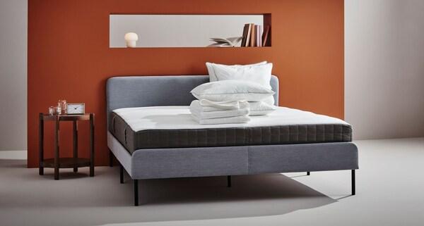 MORGEDAL Foam mattress, firm, dark gray, Full