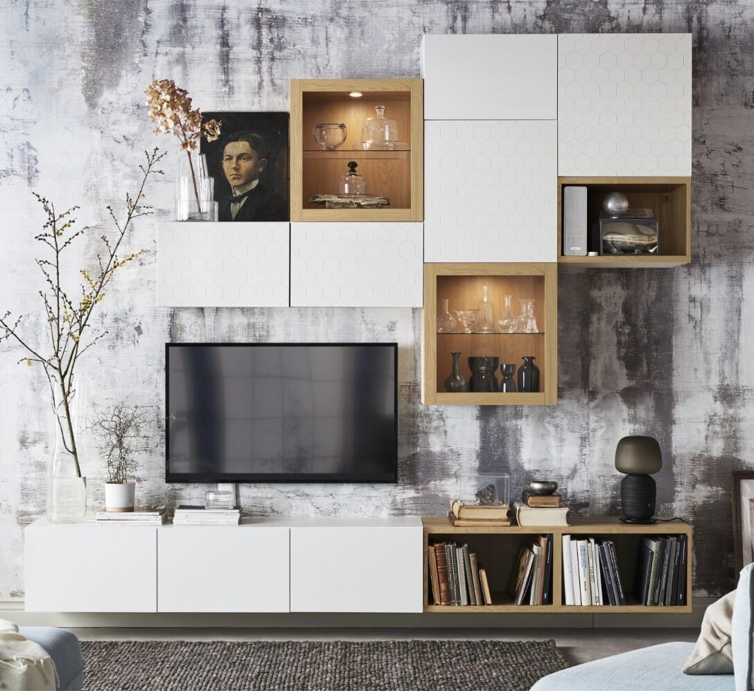 Aprende a planificar los muebles de salón BESTÅ IKEA