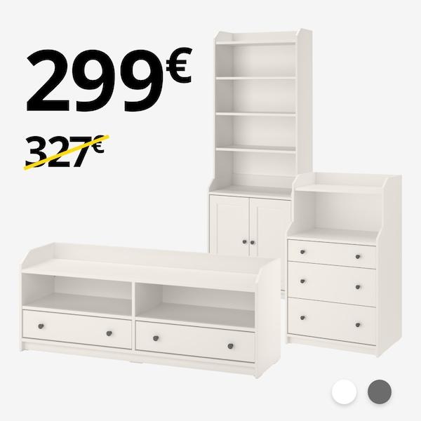 Mueble TV + Armario + Cómoda