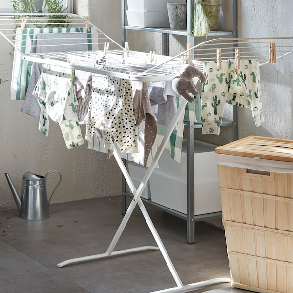 MULIG drying rack, in/outdoor white
